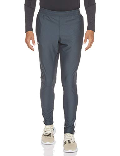 Under Armour Sportstyle Pique Track Pants, Pantaloni Uomo, Grigio (Stealth Gray/White 008), L