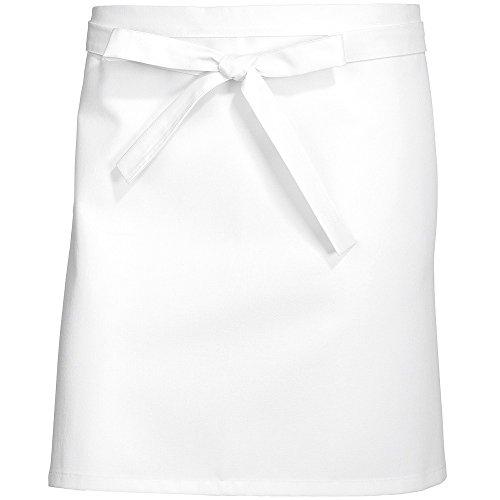 BP 1931 131 21 Tablier court de cuisine en pur coton 75 x 45 cm Blanc