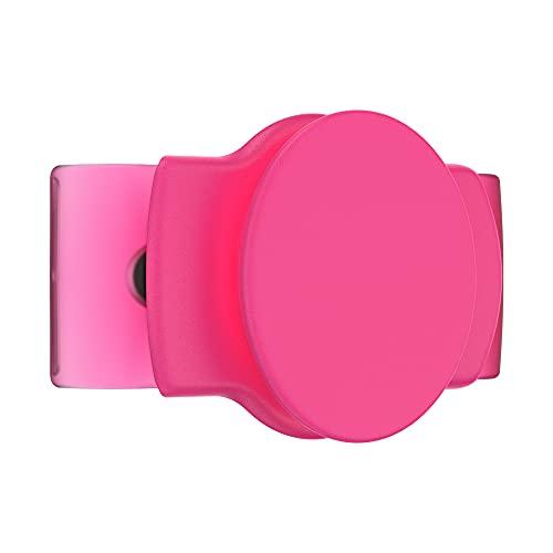 PopSockets: PopGrip Slide Stretch - Un Soporte y Agarre Sin Adhesivo para tu Teléfono Móvil. El PopGrip es Intercambiable y Funciona Solamente con Carcasas/Fundas Redondas - Neon Pink