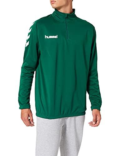 hummel Core 1/2 Zip Sweatshirts, Unisex Adulto, Verde Oscuro Evergreen, M