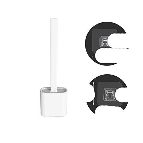 Spazzola per WC in silicone a testa piatta Spazzola con setole morbide flessibili con supporto per asciugatura rapida Set di spazzole per la pulizia per accessori per WC-Stati Uniti, C