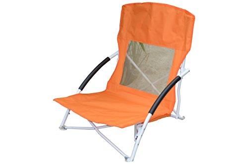 Fair-Shopping Strandstuhl Campingstuhl Klappstuhl Faltstuhl Gartenstuhl F110 (Orange)