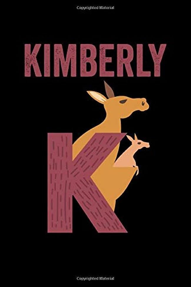 起訴する豚見る人Kimberly: Journal (Diary, Notebook) Personalized Custom Name Alphabet Kangaroo Birthday Gift for Girls