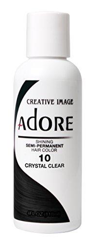 Adore Semi-Permanent Haircolor, 010 Crystal Clear, 4 Fl Oz (AD-10)