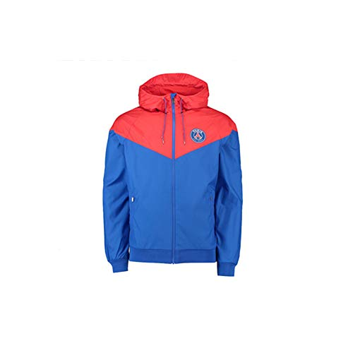 JieYanLufusi Spring New Men Sports Jacket Leisure Paris Training Suit Windrunner Windbreaker Running PSG Suit Autumn red