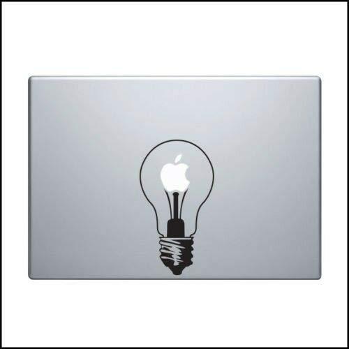 Yilooom Lightning Bulb Vinyl Decal Sticker Apple MacBook Pro Air iPad iPhone Commercial Funny Sticker voor Auto Truck Bike Window Vinyl Autozubehör - 2 stuks 12 inches Meerkleurig