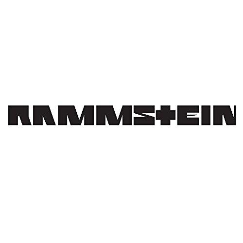 Rammstein Aufkleber Sticker schwarz Schriftzug (freistehend) 100mm, Offizielles Band Merchandise