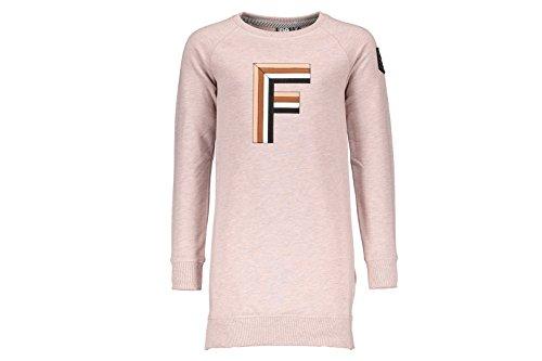 Like Flo meisje sweat jurk poeder roze F707-5805