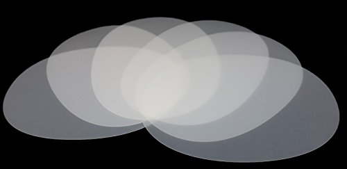 Vogt Foliendruck GmbH Tischunterlagen-Set transparent oval, 6-teilig, abwaschbar, Tischset, Platzset