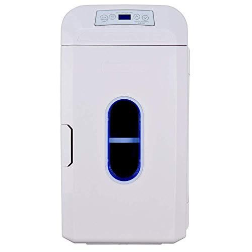 Tcbz GL-35l autokoelkast, draagbare 12 V/24 V/220 V, mini-koelkast met vriesvak, voor in de auto, dual-use-dual-core koel- en warmhoudbox, wit