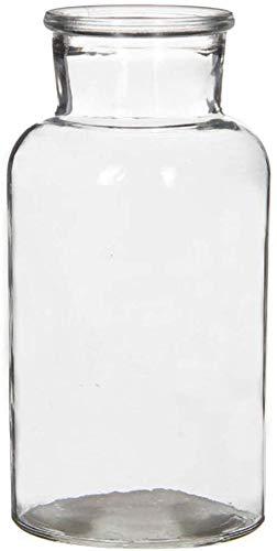 12 x Glasflaschen - Dekoglas - Apothekerflaschen H 12,5 cm oder H 10,0 cm - Deko-Glas Glasvasen Vasen Dekoflaschen Fläschchen Gewürzgläser (12 Glasflaschen H 12,5 cm)