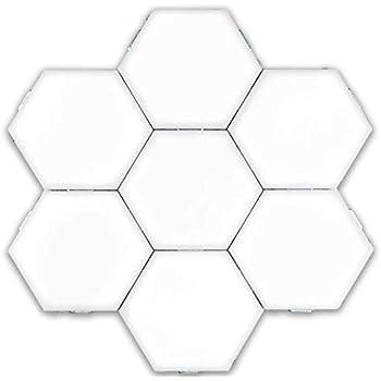 Amazon Com Alovewe Hexagonal Wall Light Touch Sensitive Modular Light Diy Lights Creative Geometry Assembly Led Night Light Home Kitchen