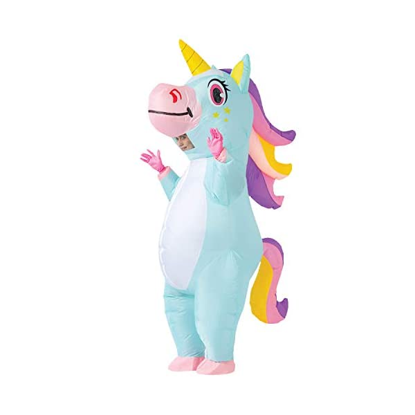 Spooktacular Creations Inflatable Costume Unicorn Full Body Unicorn Air Blow-up Deluxe...