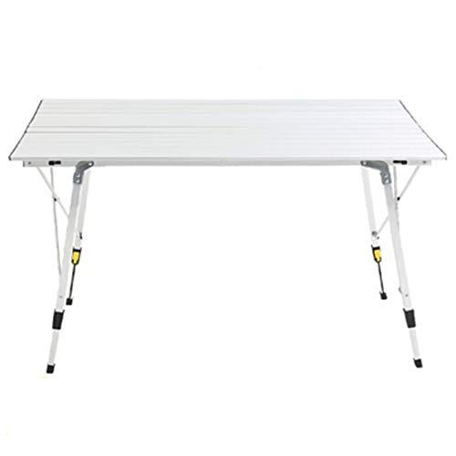 DQM Handige mode draagbare campingtafel, aluminium hoogte verstelbare vouwen voor kampeerreis, reizen, outdoor concert, sportevenementen. picknickbarbecue vissen, stevig en stabiel