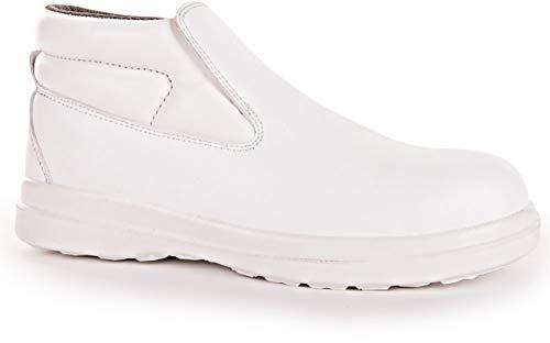 Hygostar S2 - Pantuflas altas con tapa protectora (talla 38), color blanco