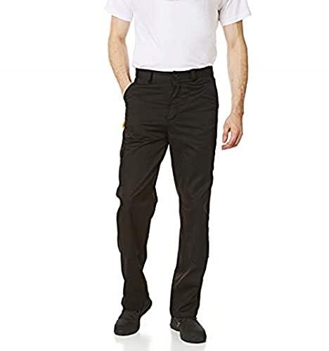 Iron Mountain Workwear IMPNT100 Herren-Cargohose, strapazierfähig, pflegeleicht, mit mehreren Taschen, Kniepolster, Tasche, Arbeitssicherheit, klassisch,Schwarz, 32W / 29L