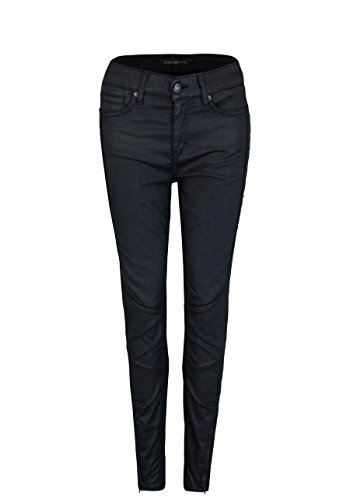 Drykorn Skinny Fit Hose Strict Cropped Ziernähte schwarz Größe W25 L32