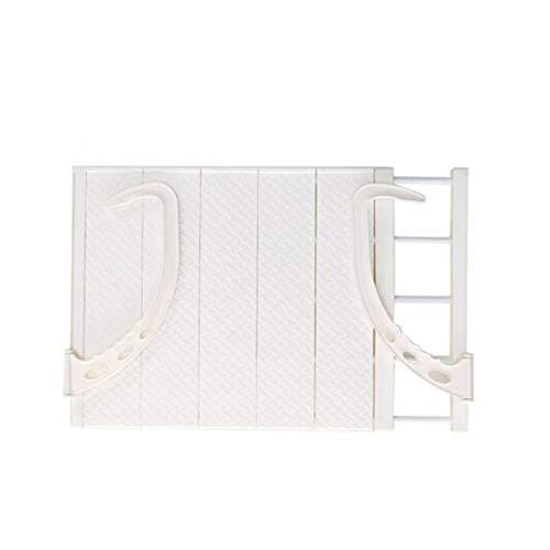 Tendedero Ropa Estante De Secado Plegable Multifunción Colgante Ventana Esquera Secado Easy Dobling Secking Rack Balcony Retráctil Secado Zapato Estante (Color : White)