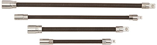 Anytime Tools 203032 Flexible Socket Extension Flex Bar Ratchet Auto/Mechanic Tools, 1/4-Inch Drive and 3/8-Inch Drive, 4-Piece
