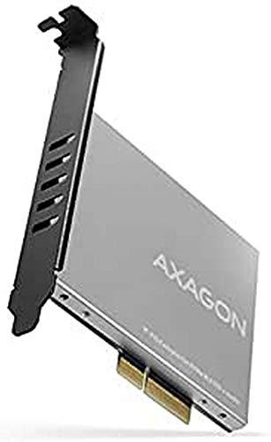 AXAGON ECO PCEM2-NC PCIE NVME M.2 Adapter. PCI-Express x4 Adapter mit Passivkühler zum Anschluss von NVMe M.2 SSD Festplatte am Computer