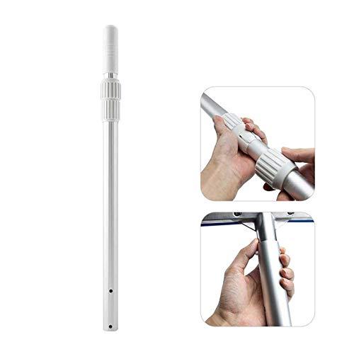 Piscina Aspiradora Varilla telescópica, barra de extensión de varilla telescópica universal para herramientas de limpieza de piscinas Para piscinas en el suelo, piscinas pequeñas, spas.