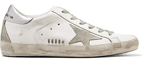VCEGGDB Zapatillas de deporte de cuero ocasionales Super Star Mens Sport Shoes Slide, color Plateado, talla 37 1/3 EU