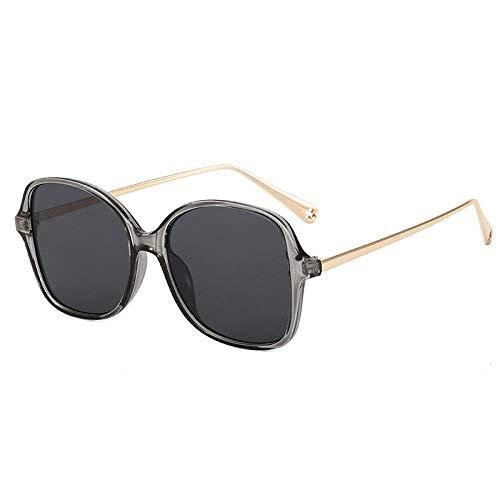 Gosunfly 2021 street shot générique boîte pare-soleil miroir tendance des femmes Han Feng montrer des lunettes de soleil minces lunettes anti-UV monture homme-gris gris