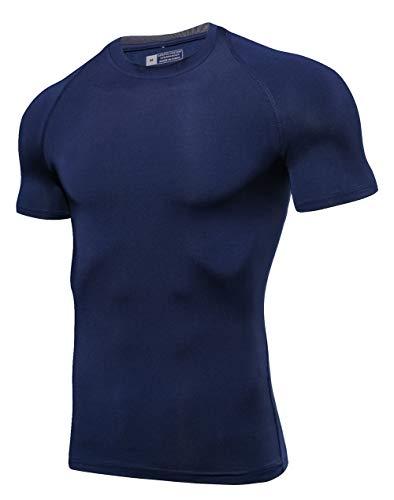 BORUO Donne T-Shirt,Uomo Ciclismo Jersey,Asciugatura Veloce Traspirante Manica Corta,Estate All'aperto Sport Fitness Camicia,1,XXL