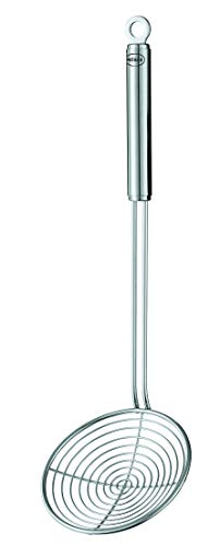 Rösle Seihlöffel, Hochwertiger Abseihlöffel mit R&griff, 14 cm, Edelstahl 18/10, Spülmaschinengeeignet