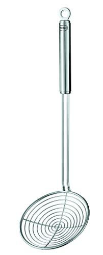 Rösle Seihlöffel, Hochwertiger Abseihlöffel mit Rundgriff, 14 cm, Edelstahl 18/10, Spülmaschinengeeignet