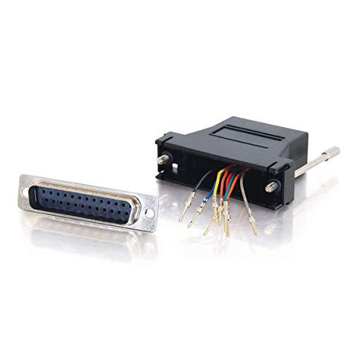 CABLES TO GO C2G RJ45/DB25M Modular Adapter RJ45 DB25 M Negro Adaptador de Cable - Adaptador para Cable (RJ45, DB25 M, Negro)