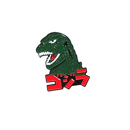 Dinossauro Duro Esmalte Pinos Criatividade Metal Desenho Animado Mochila Chapéu Bolsa Colarinho Lapela Distintivo Moda Joias-1