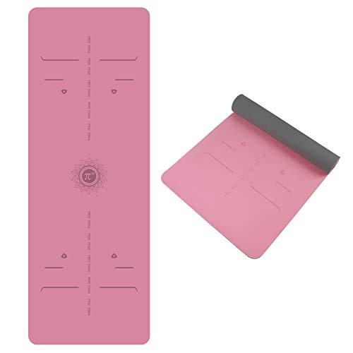 WWWW TPE Yoga Mat Body Alignment Line ECO Friendly SGS Certified Non Slip Yoga Mats