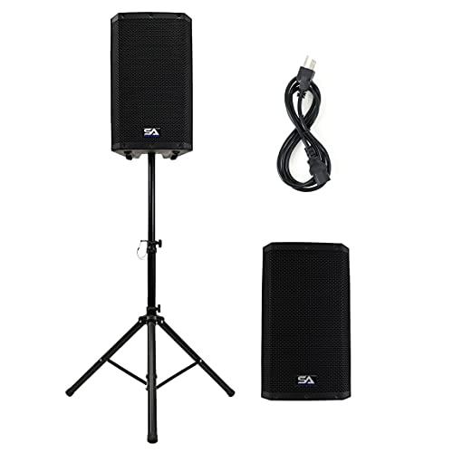 "Seismic Audio - Riot-12 - Pair of Powered 12"" 1000 Watt PA/DJ Speakers with Bluetooth, DSP, Built in Mixer & Class D Amplifier"