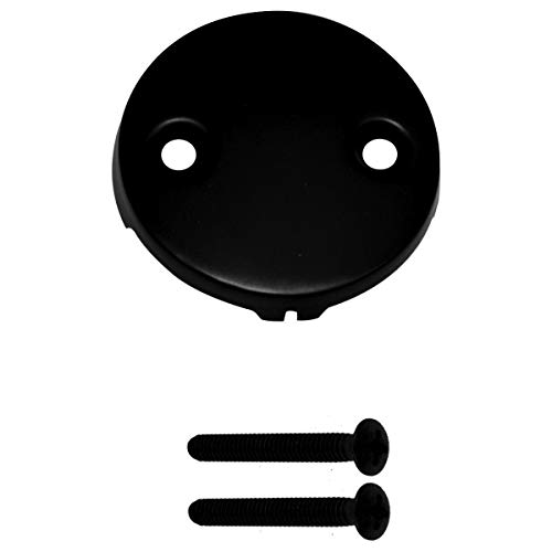 Westbrass Tip Toe Tub Trim Set with Two-Hole Overflow Faceplate, Matte Black, D93-2-62