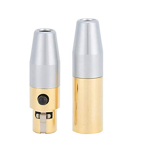1 paar lasconnector Vergulde 3-core MINI XLR lasconnector DIY soldeerkop voor audiokabels hoofdtelefoon microfoon audiokabels eenvoudig te installeren