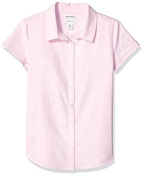 Amazon Essentials Little Girl s Short Sleeve Uniform Oxford Shirt Pink S  6-7