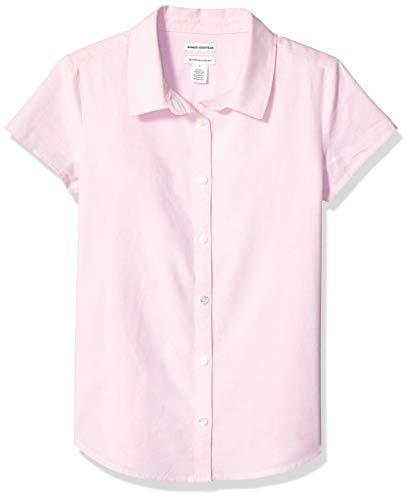 Amazon Essentials Uniform Oxford-Bluse für Mädchen, Kurzarm, Oxford Pink, US M (EU 128 CM, P)