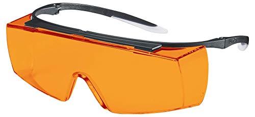 Uvex Super F OTG Supravision Sapphire - Gafas protectoras (naranja/negro)