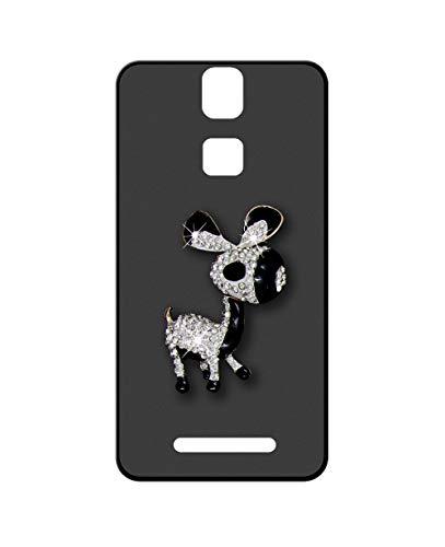 Sunrive Kompatibel mit Elephone P8000 Hülle Silikon,Glitzer Diamant Strass Handyhülle matt Schutzhülle Etui 3D Hülle Backcover (Esel) MEHRWEG+Gratis Universal Eingabestift
