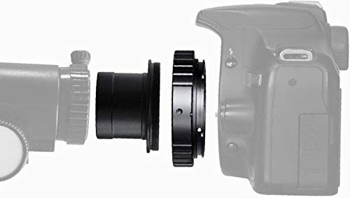 Adaptador Solomark para objetivo de cámara SLR/DSLR, para telescopio y anillo T de 1,25 pulgadas, para astrofotografía