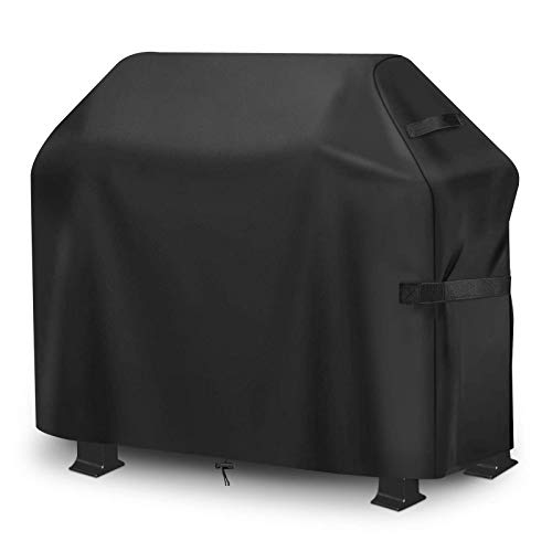 king do way Funda para Barbacoa Impermeable, 147x61x122cm, Cubierta para Barbacoa 420D Oxford, Protector para Barbacoa Anti-Viento/UV/Impermeabilidad para Weber, Brinkmann,Outback,Char Broil, etc
