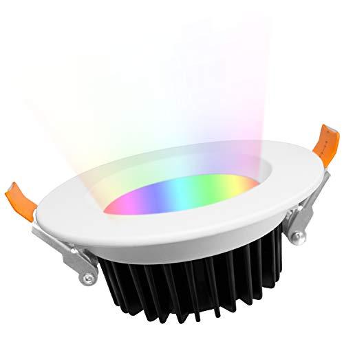 GLEDOPTO Smart ZigBee12W Ceiling Downlight Recessed Dimmable RGB CCT 2700~6500K White Light LED Lighting Compatible with Hue Bridge SmartThings Alexa Echo Plus App/Voice Control (Require ZigBee Hub)