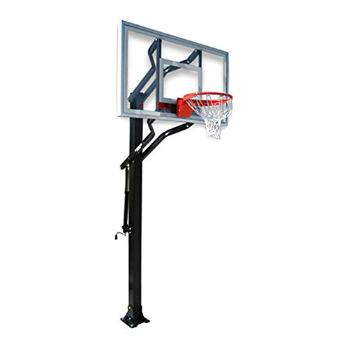 First Team Challenger III In-Ground Basketball Hoop with 54in Acrylic Backboard