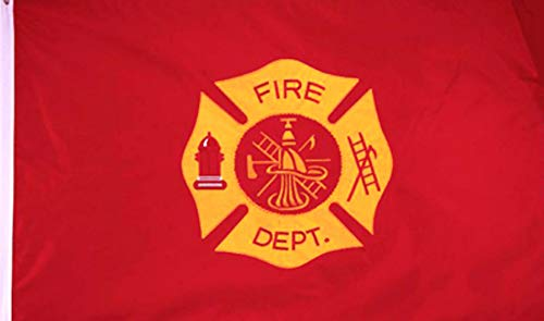 3' x 5' Fire Department Embroidered Double Sided 210D Flag