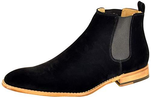 """Lässige Herren-Chelsea-Boots Typ """"Chukka Desert"""", ledergefüttert, Schwarz - schwarz - Größe: 46 EU"""