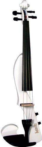 Valentino VVN-20EW - Violín con forma de F, color blanco