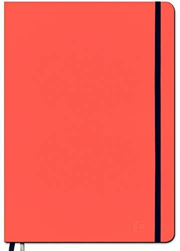 PERSEN Schuljahresplaner classic 2020/21 - Living Coral, Lehrerkalender für alle Klassenstufen, Ledereinband & Spanngummi, Ferienkalender, 17 x 24 cm, 224 Seiten