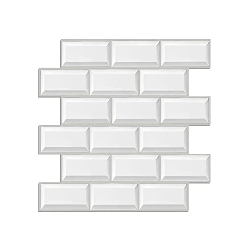 1 0PCS / 30PCS / 50PCS / 3D Paneles de pared 30 X 30 CM Muro de ladrillo de azulejo a prueba de agua autoadhesivo blanco impermeable CLORURO DE POLIVINILO Panel de espuma para dormitorio de sala de es