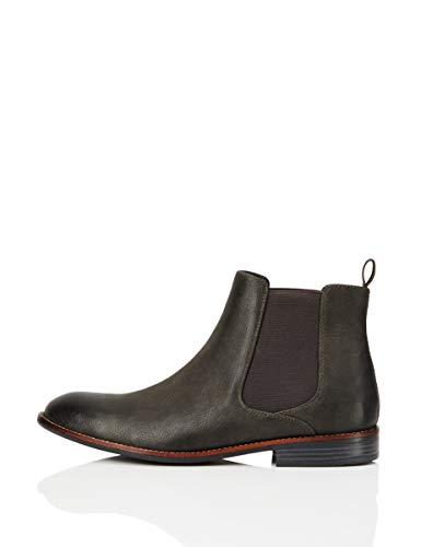 FIND Boots Stivali Chelsea, Grigio (Grey), 43 EU